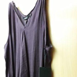 Vera Wang purple silk flowy top XL New With Tags